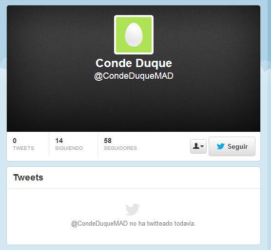 Twitter del Centro Cultural Conde Duque
