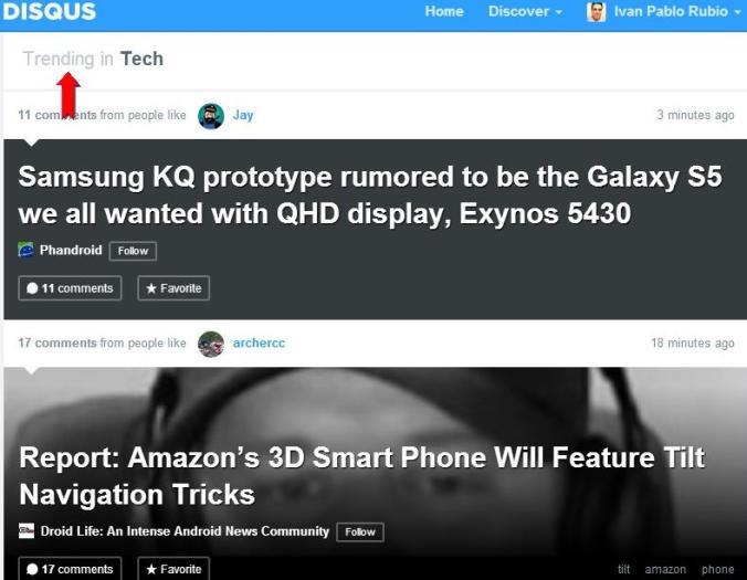 Disqus permite ver los posts más populares en función de los comentarios
