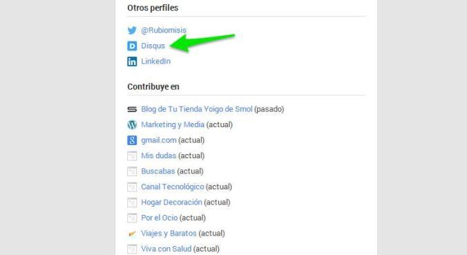 Disqus puede ser añadido en tu perfil de Google+