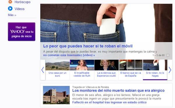 Yahoo y sus titulares clicables