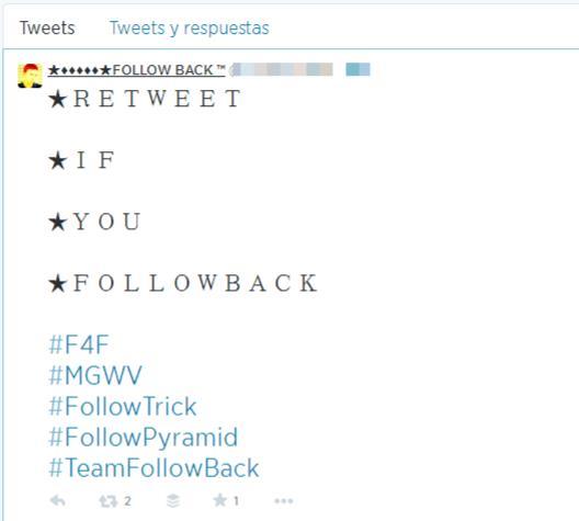Cómo no ganar seguidores en twitter