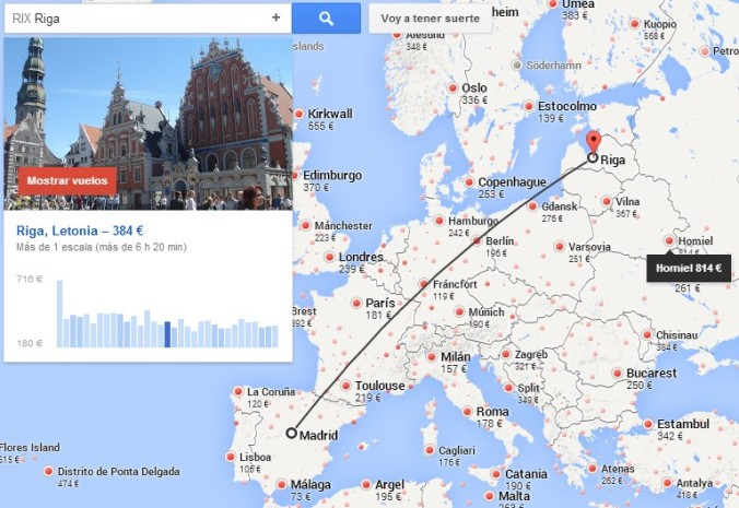 Google Flights Mapa